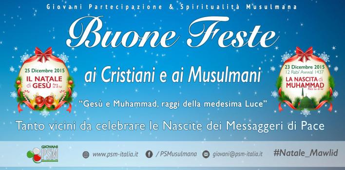 """Campagna nelle Piazze d'Italia:  """"Gesù e Muhammad, raggi della medesima Luce"""""""