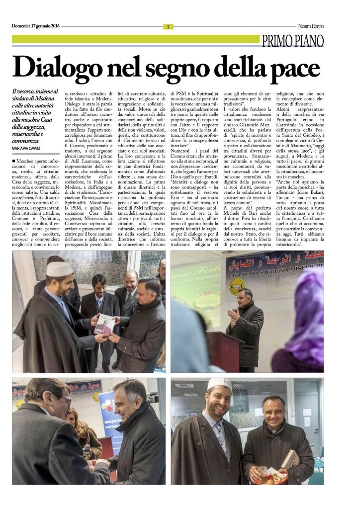 Articolo Modena Moschea Aperta