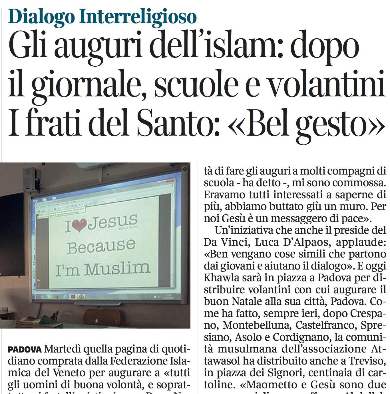 Padova giornale Mawlid