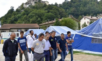 Delegazione PSM in visita alle popolazioni terremotate