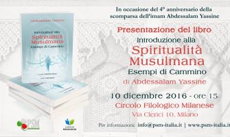 """Presentazione libro """"Introduzione alla Spiritualità musulmana"""" di Abdessalam Yassine al Circolo Filologico Milanese"""
